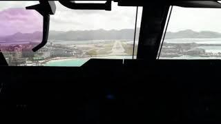 RARE ! A400M Landing in St Maarten Princess Juliana Airport After hurricane Irma