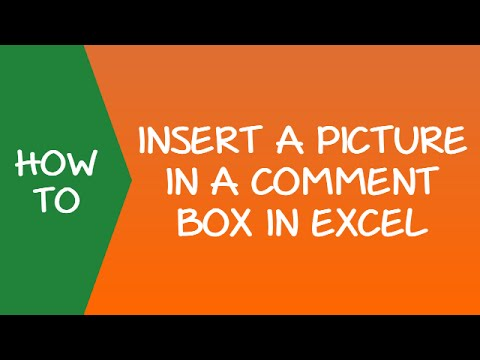 Insert a Picture in a Comment Box in Excel