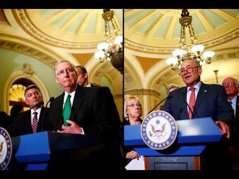 WATCH: Senate GOP, Democratic leaders speak after party luncheons