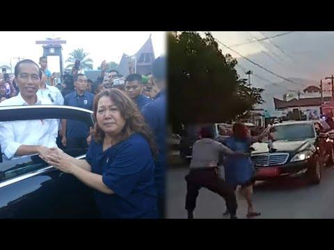 Keberanian 'Polisi Toba' Hentikan Mobil Presiden Joko Widodo