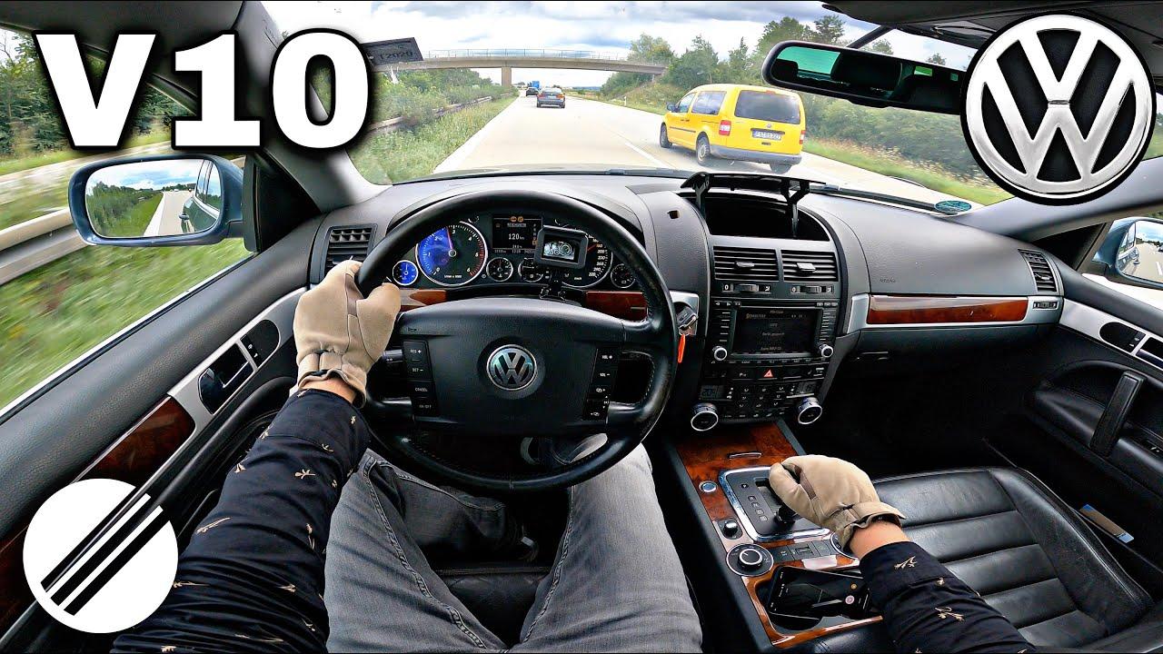 Download VW TOUAREG 5.0 V10 TDI TOP SPEED DRIVE ON GERMAN AUTOBAHN 🏎