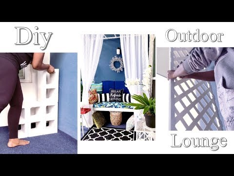 DIY 2020 SPRING DECOR| HOW TO FAKE IT IN A RENTAL| DIY LUXURY OUTDOOR LOUNGE| HOME IMPROVEMENT DIY