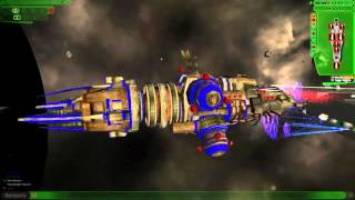 Sword of the Stars: Peacekeeper Enforcer vs  Hivers Dreadnoughts