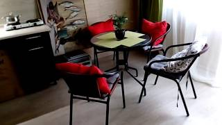 Обзор кухни гостиной 22 кв.м. после ремонта Ремонт в доме Переезд в Краснодар