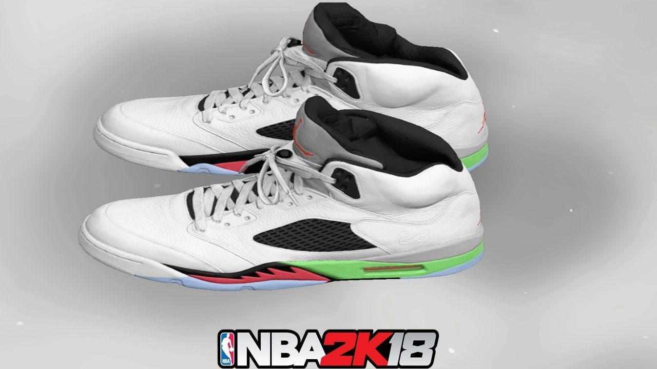 NBA 2K18 Shoe Creator ⋆#NBA2K18⋆ Jordan 5 Pro Star (Poison Green)