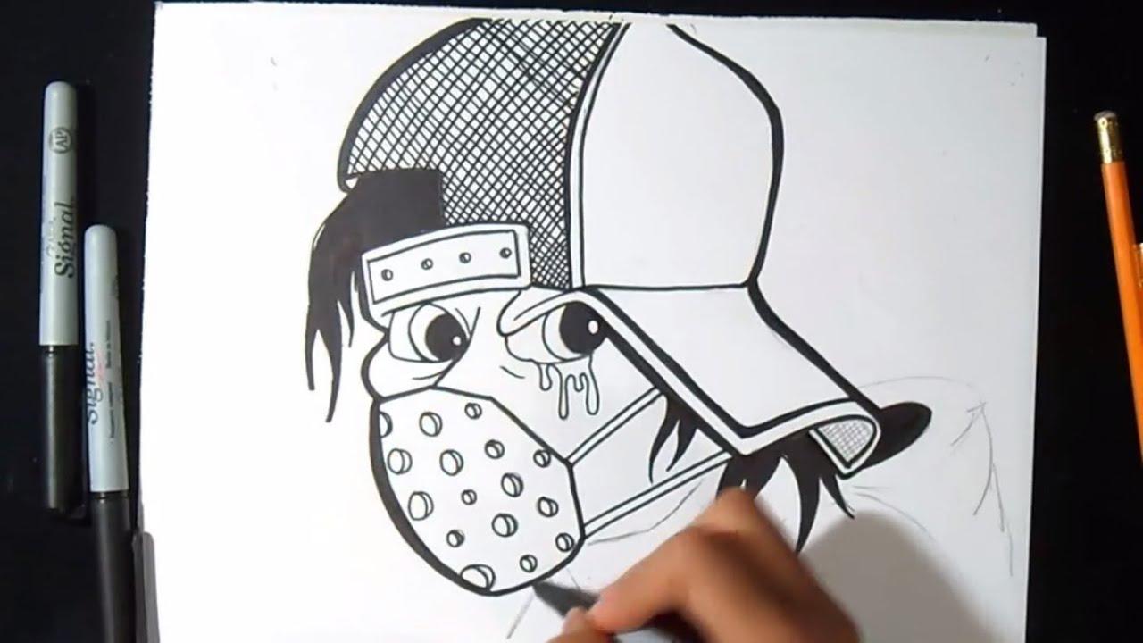 comment dessiner un personnage en chapeau graffiti youtube - Dessin Graffiti