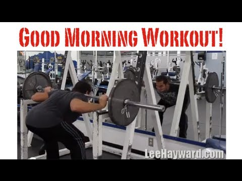 Good Morning Exercise - Hamstring & Back Workout