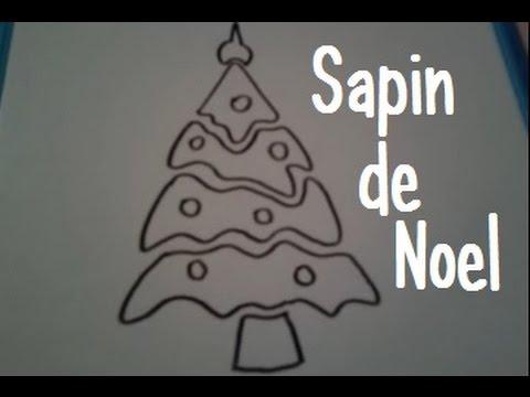 Dessiner un pochoir sapin de noel youtube - Sapin de noel a dessiner ...