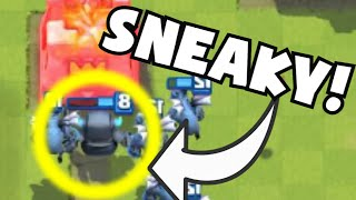 clash royale sneaky mini pekka hog cycle deck no legendary cards undefeated gameplay strategy