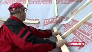 Монтаж керамической черепицы TONDACH  Подготовка поверхности