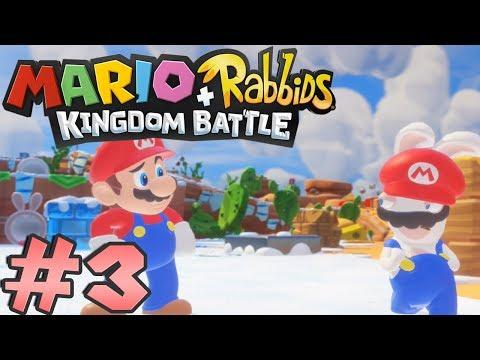 Mario + Rabbids Kingdom Battle: Playthrough #3 | World 2: Sherbet Desert / Boss: Blizzy and Sandy