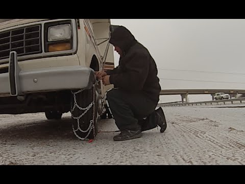 Snow Chains in Colorado City, TX & Jax in Snow