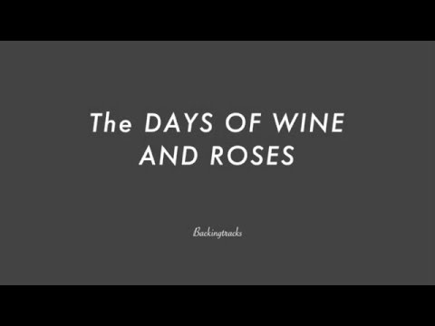 The DAYS OF WINE AND ROSES chord progression - Jazz Backing Track Play Along