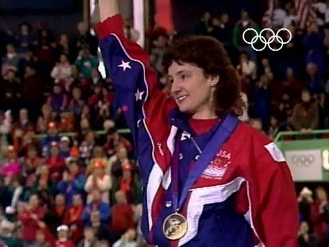 Bonnie Blair Wins Gold By Record Distance - Lillehammer 1994 Winter Olympics