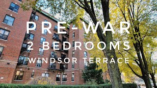 Large Pre-war Park View 2 Bedrooms Apartment in Windsor Terrace or Kensington! Video Tour NYC