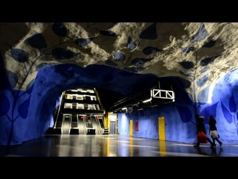 Art takes over the Stockholm metro system