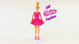 DIY Barbie Toy Summer suit with polka dots - Barbie Fashion Clothes Tutorial for kids Girls