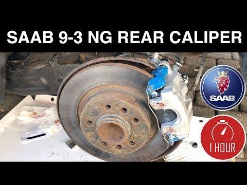SAAB 9-3 NG NEW Rear Caliper Install Wagon Sedan – How To Change