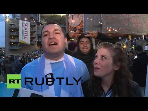 USA: Argentina fans celebrate group-topping victory over Bolivia