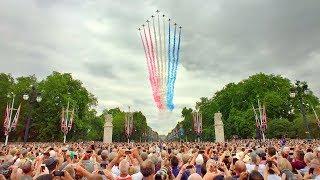 LONDON WALK | RAF Centenary Flypast over The Mall and Buckingham Palace | England