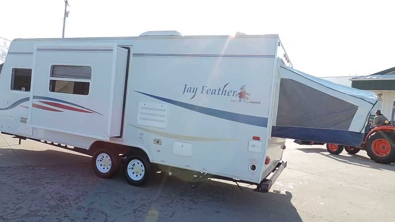very nice clean 24 2007 jayco jay feather 23b hybrid 2 pop outs 1