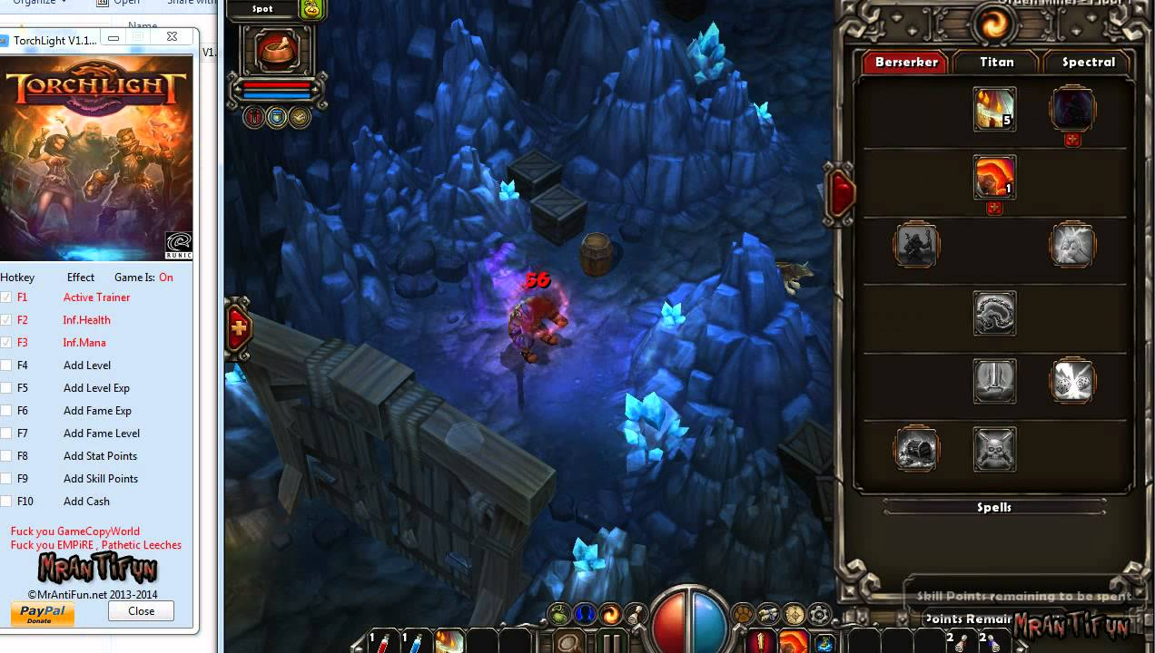 Torchlight II - PC Games Trainer and Cheat Codes