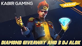 [LIVE]🇮🇳ALOK GIVEAWAY    1000+ Diamond Giveaway    FREE fire LIVE    FULL CUSTOM ROOMS WITH KABIR