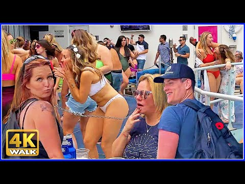 4K WALK Ocean Drive SOUTH BEACH Miami Beach 4k Florida USA