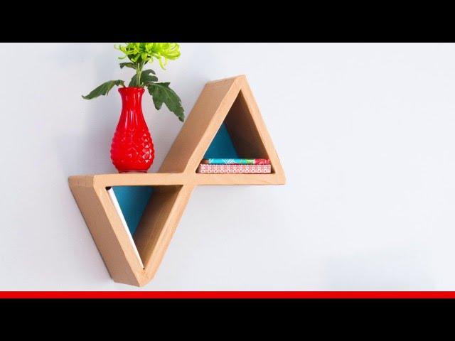 Réaliser Une étagère Triangle En Carton Youtube
