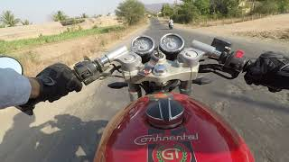 My first rides with the continental GT 535 EF