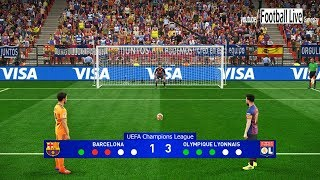 PES 2019 | Barcelona vs Lyon | UEFA Champions League (UCL) | Penalty Shootout | Gameplay PC