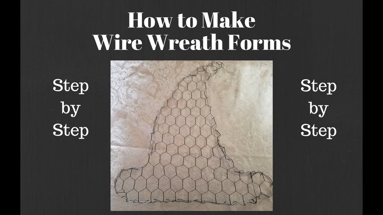 How to Make Wire Wreath Forms, wire wreath forms for mesh wreaths ...