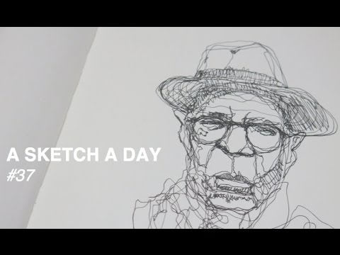 Continuous Line Drawing Face : Continuous line drawing of an old man youtube