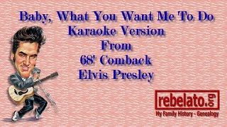 Baby, What You Want Me To Do - Elvis Presley - Online Karaoke