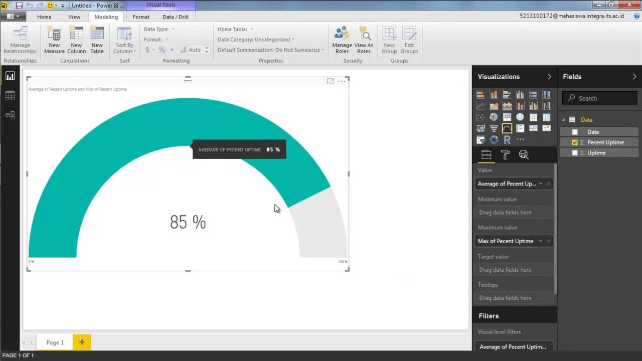 Using Gauge Visual in Power BI