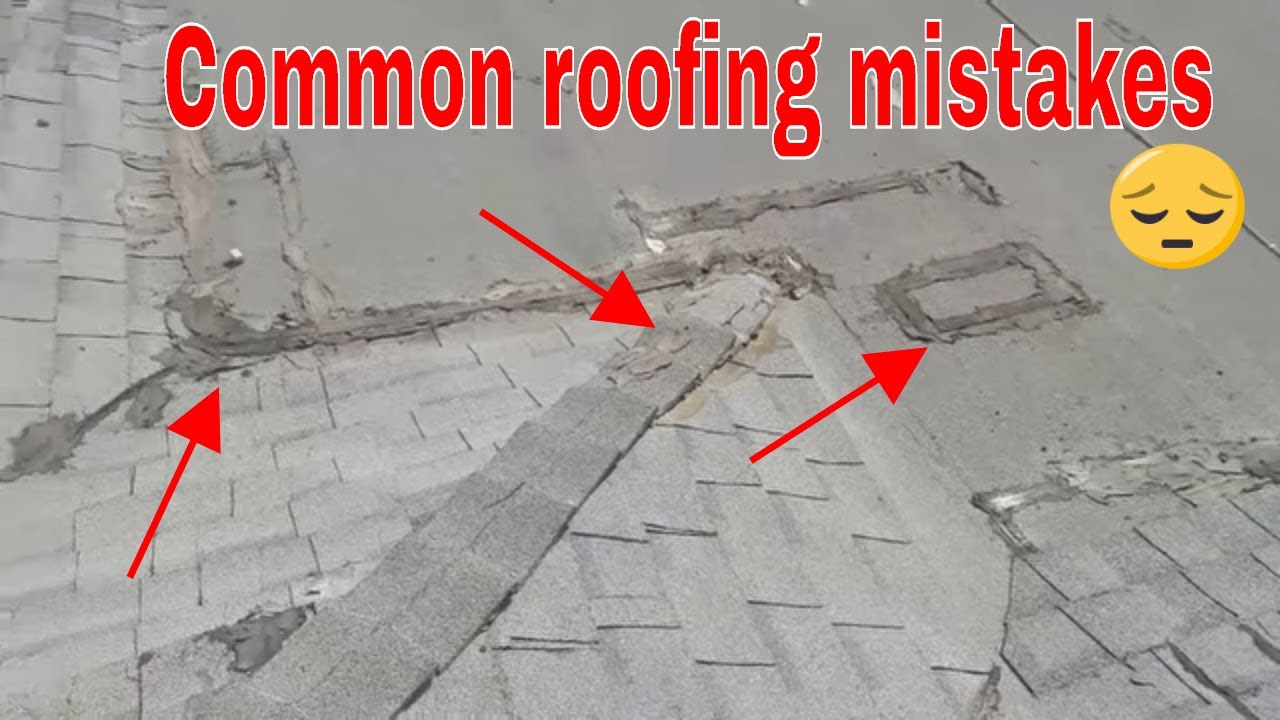 Common mistakes when installing a new roof , shingle roofing, Asphalt  roofing, water proofing