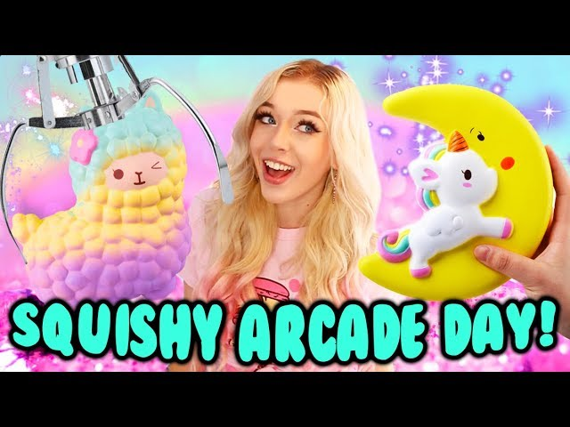 Squishy Arcade Day Tons Of Squishy Claw Machine Wins