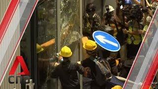 Protesters storm Hong Kong's Legislative Council building