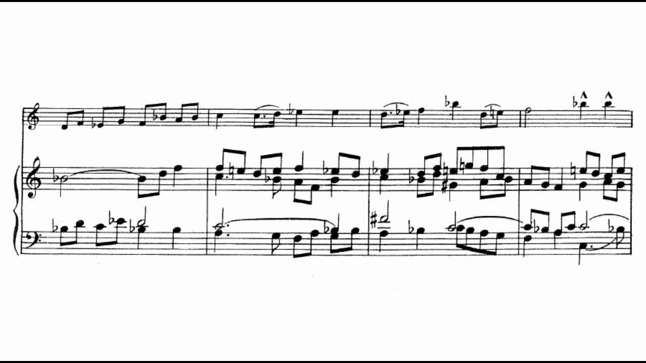 Violin Sonata No. 3, Movement 1 - Piano Score