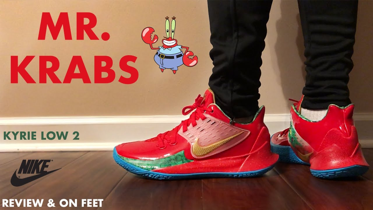 Nike Kyrie Low 2 Mr Krabs Review and On