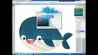 Illustrating drawing painting - how to draw cartoon whale