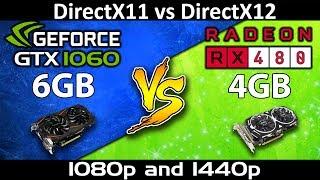 RX 480 vs GTX 1060 6G | 1080p and 1440p Comparison | DX11 and DX12 Comparison | Latest Driver Update