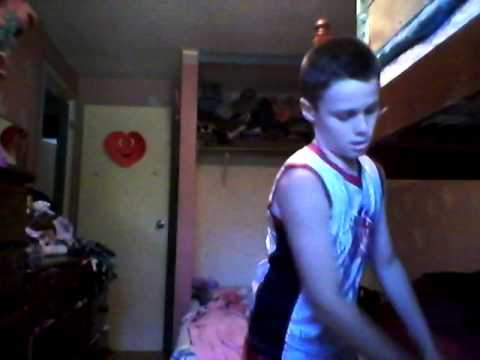 11 year old boy working out