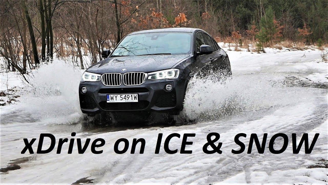 BMW X4 35d M xDrive on ICE & SNOW Winter TEST [ENG/PL]