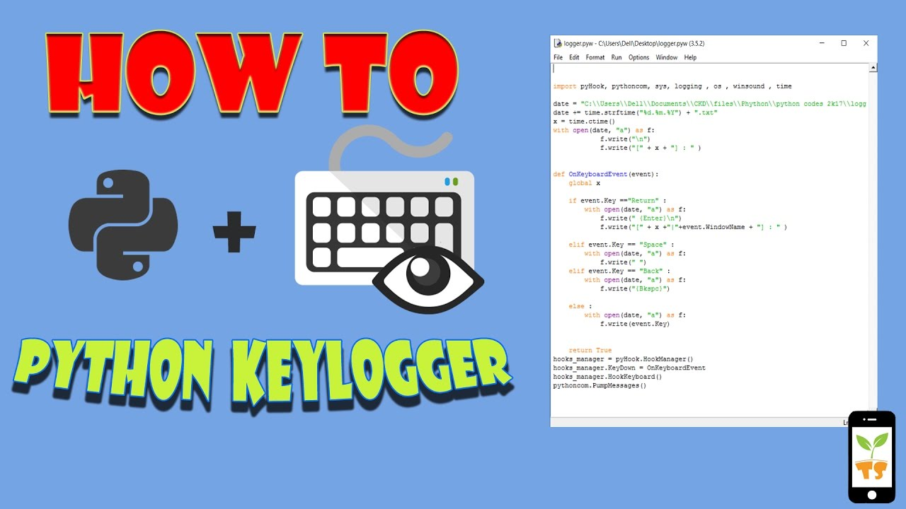 How to make a simple keylogger using python