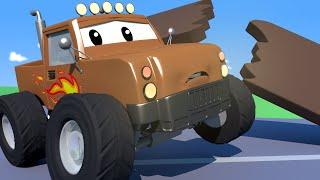 Çekici Tom -  Canavar Kamyon Marley'nun Çatı kazası - Araba şehri 🚗 Çocuklar için çizgi filmler