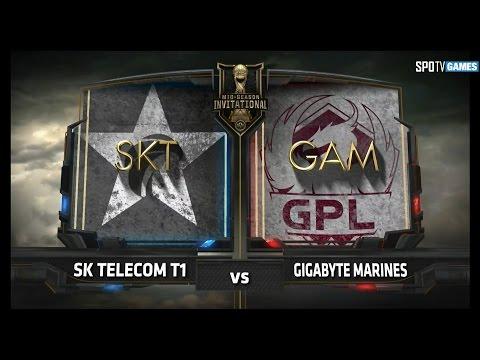 SK TELECOM T1 vs GIGABYTE MARINES [17.05.11] 2017 LoL MSI