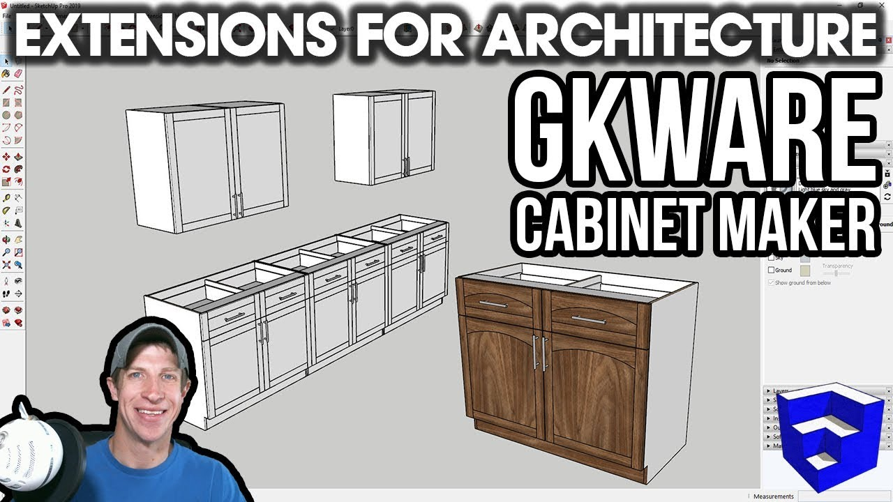 SketchUp Extensions FOR ARCHITECTURE - Easy Cabinets with GKWare Cabinet  Maker