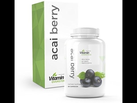 ACAI BERRY: Detox Cleanse, Gut Support,Digestive Balance Formula - Vegetarian, DairyGluten Free - M