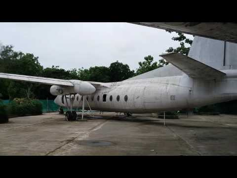 Decommissioned Myanmar Airways Fokker F27-600 Friendship. Aicraft registration XY-AEW. (HD video)